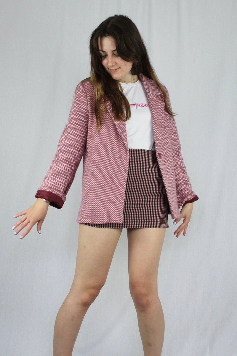 ''In the Pink'' wool blazer