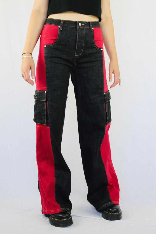 Panelled cargo pants