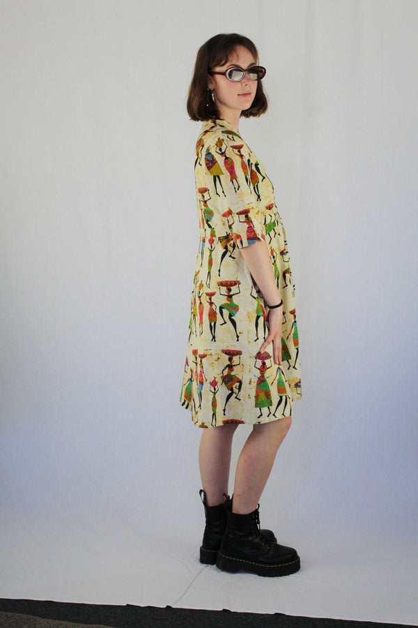 Retro shirt dress