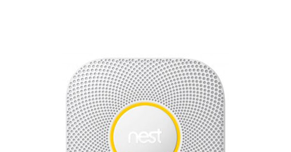 Nest Protect with yellow light around the ring
