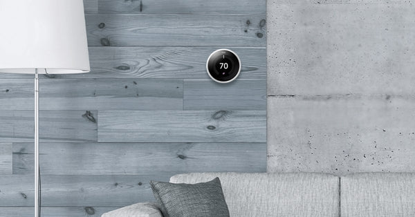 A Guide To Nest Products: smart thermostat on wall