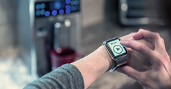 smartwatch brewing coffee