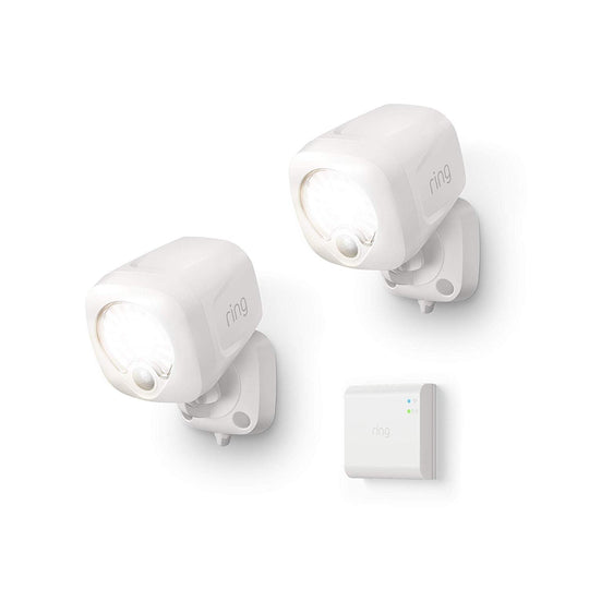 Ring Smart Lighting Spotlight 2-Pack + Bridge - White