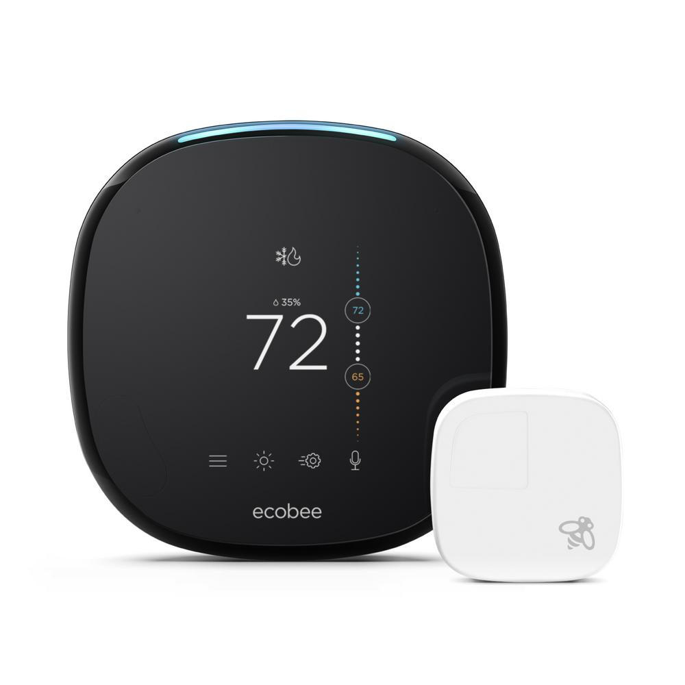 ecobee4 EB-STATE4P-01 Wi-Fi Smart Thermostat with Built-In Alexa Voice Service