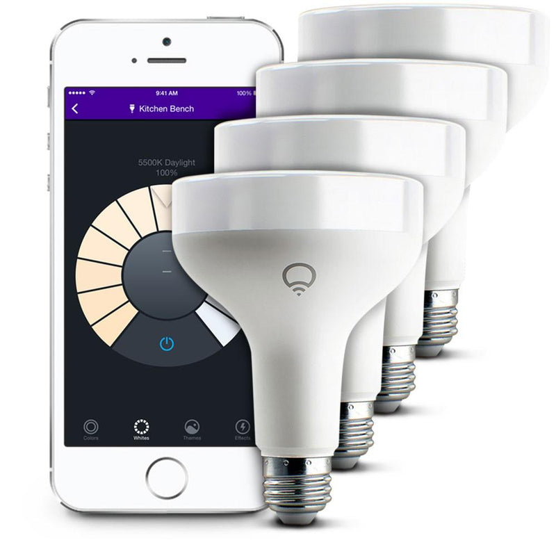 LIFX App Controlled Wi-Fi Smart LED Light Bulb, BR30