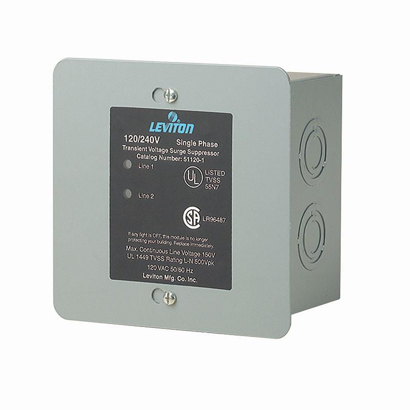 Leviton 51120-1 Panel Mount Whole Home Surge Protector and Supressor