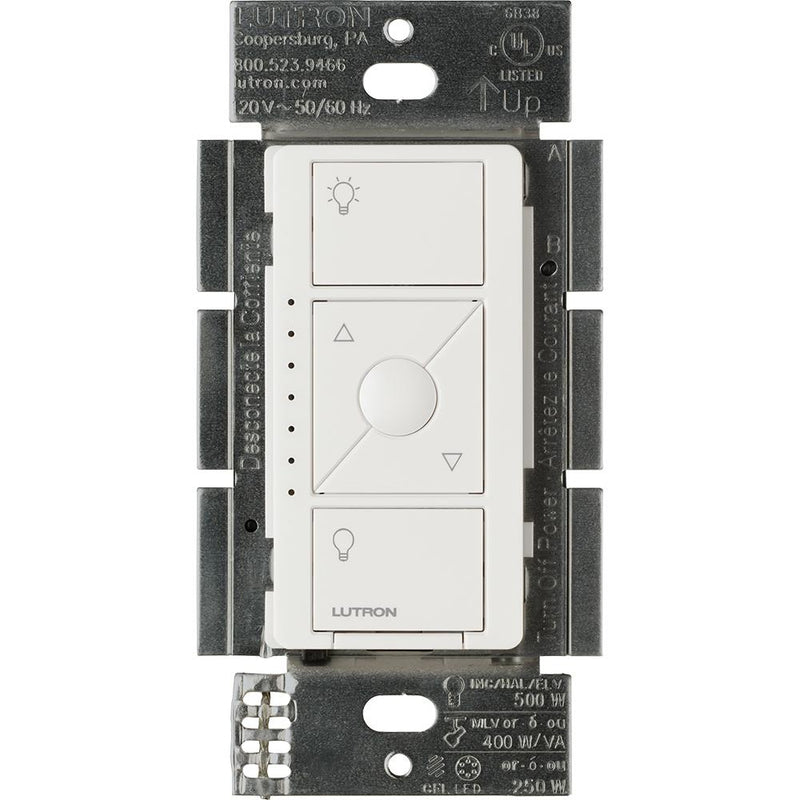 Lutron PD-5NE-WH Caseta Wireless ELV In-Wall Dimmer, White