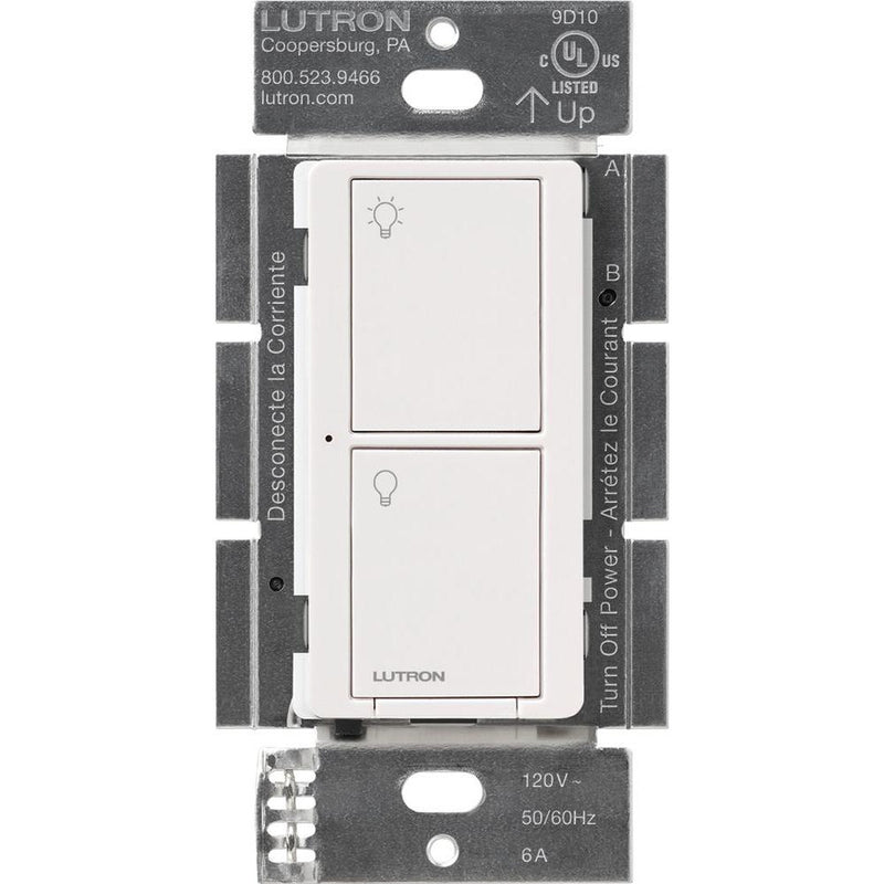 Lutron PD-6ANS-WH Caseta Wireless 6 Amp Multi-Location In-Wall Neutral Switch