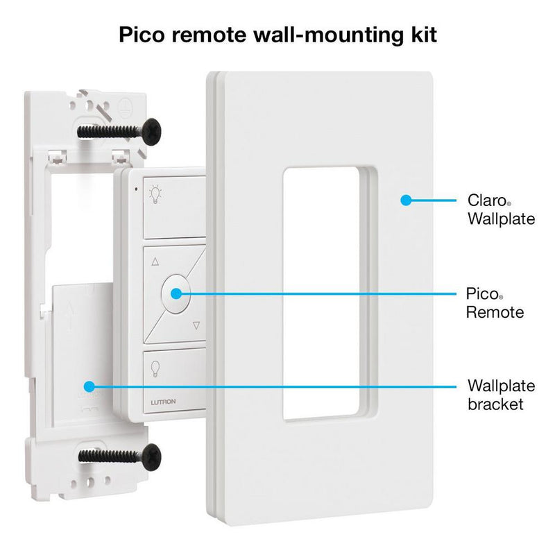 Lutron Pico Remote with Wall Mount, White