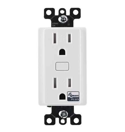 GE Z-Wave Plus 15-Amp 120-Volt In-Wall Tamper-Resistant Smart Outlet