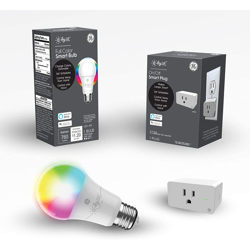 C by GE Bluetooth Dimmable Smart LED Light Bulb, Hub Optional