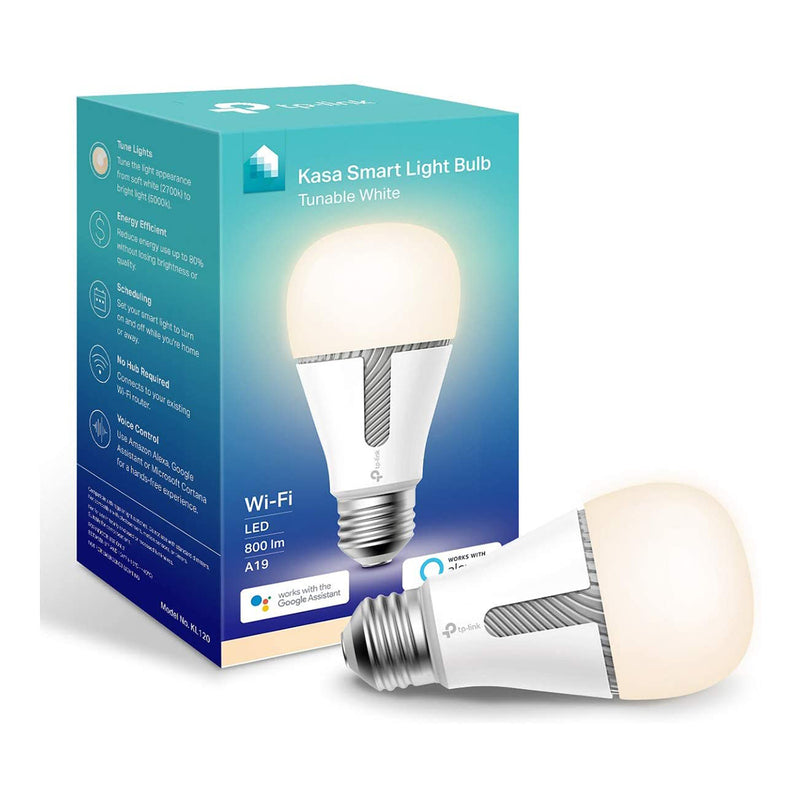 Kasa Smart WiFi Smart Dimmable LED Light Bulb, No Hub Required - A19 - Each