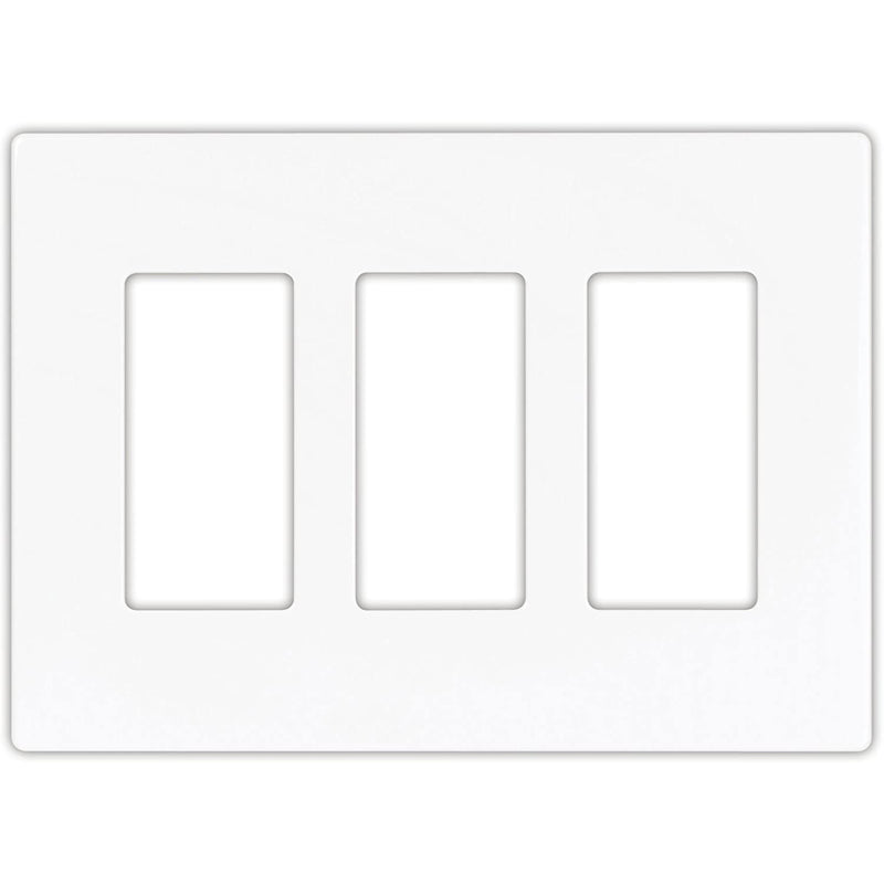 Eaton Arrow Hat Decorative Screwless Wall Plate - 3-Gang