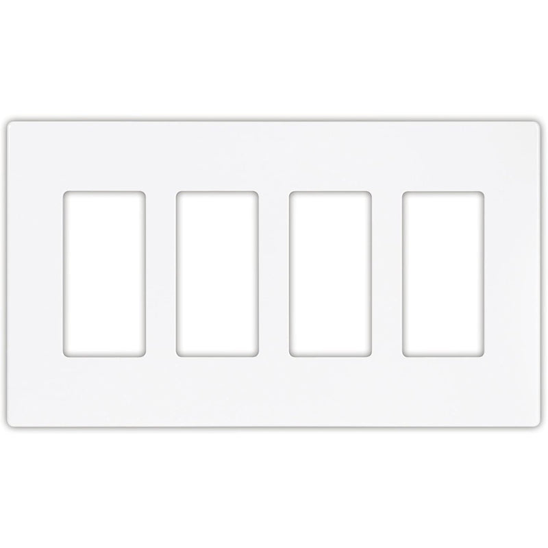 Eaton Arrow Hat Decorative Screwless Wall Plate - 4-Gang