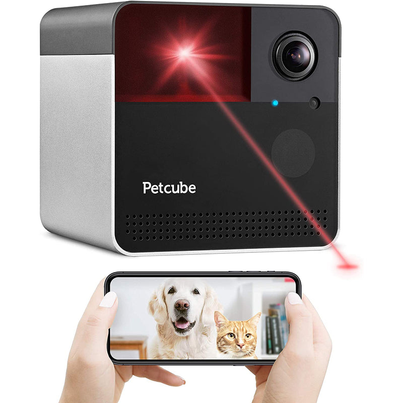 Petcube Play 2 Wi-Fi HD Pet Camera with Laser Toy for Cats and Dogs, Alexa Built-In