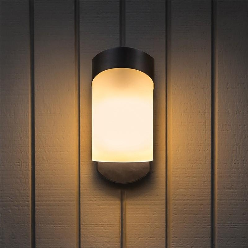 Maximus Smart Contemporary Porch Companion Light (Camera-Less) - Black