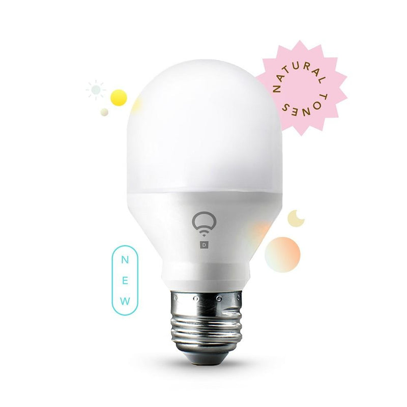 LIFX Mini A19 E26 App Controlled Wi-Fi Smart LED Bulb, Day & Dusk
