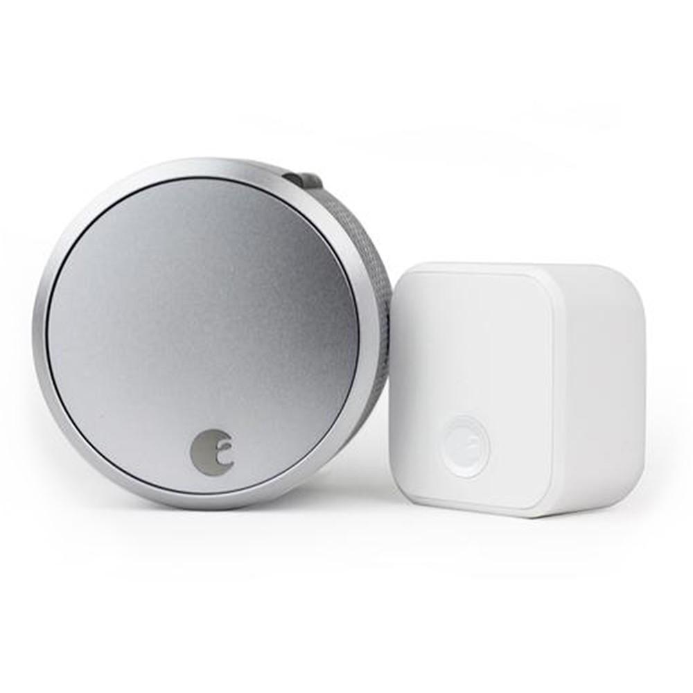 August AUG-SL03-C02-S03 Smart Lock Pro + Connect, Silver