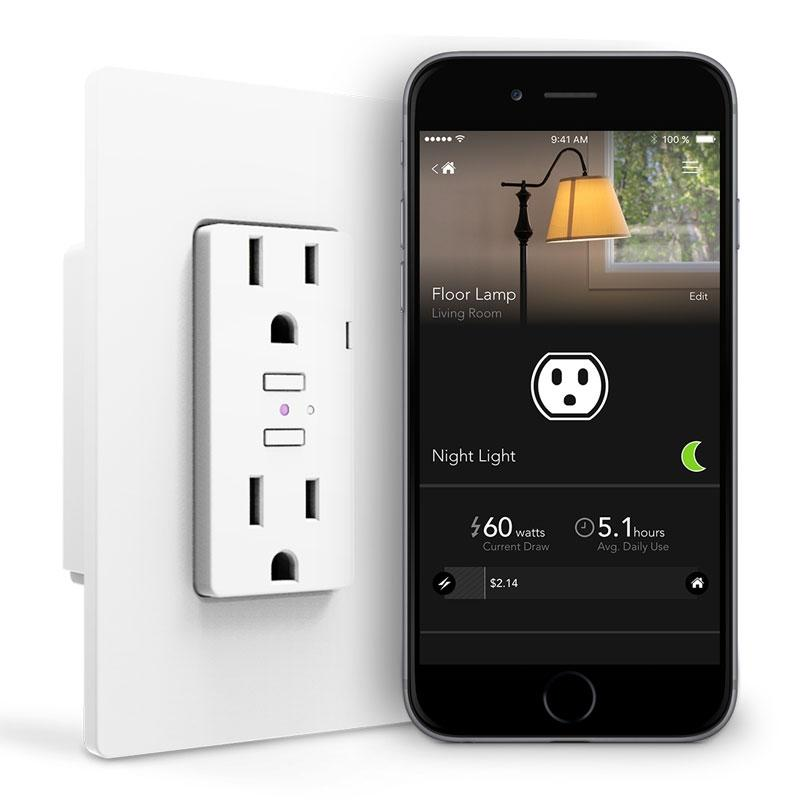iDevices Smart WiFi Wall Outlet, No Hub Required
