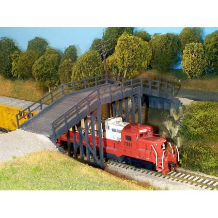 HO Rix Products Rural Timber Overpass Kit 628-0200