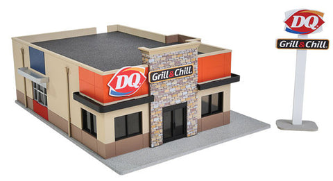 HO Walthers Cornerstone DQ Grill & Chill Kit #933-3485