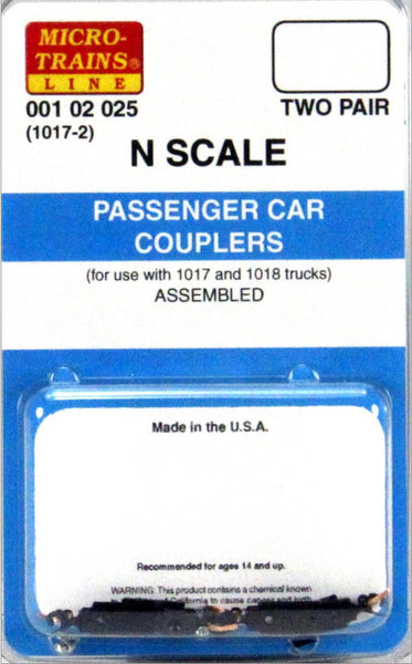 Micro-Trains N Scale Passenger Car Couplers Assembled #1017-2