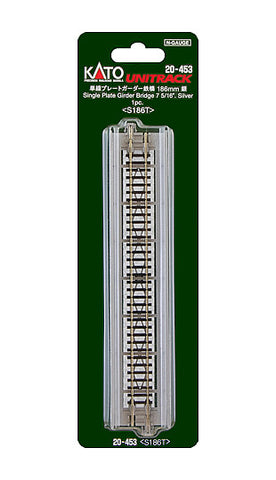 "Kato N Scale 7 5/16"" Single Plate Girder Bridge -Silver #20-453"