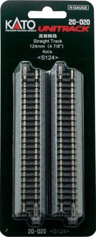 "Kato N Scale 4 7/8"" Straight Track #20-020"