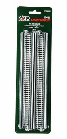 "Kato N Scale 9 3/4"" Single Track Straight Viaduct #20-400"