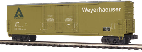 M.T.H Weyerhaeuser (#252) 50' Dbl. Door Plugged Boxcar
