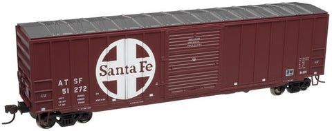 "Atlas HO TrainMan ACF 50'6"" Box Car Santa Fe Road #51272"