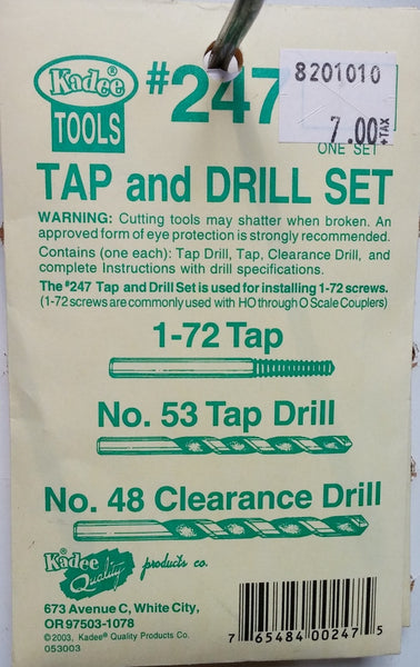 HO Kadee #247 Tap and Drill Set