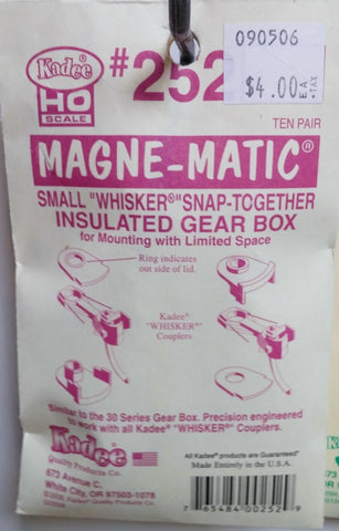 "HO Kadee #252 Small ""Whisker"" Snap-Together Insulated Gear Box"