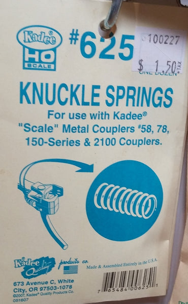 HO Kadee #625 Knuckle Springs