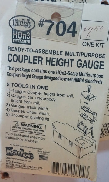 HO Kadee #704 Coupler Height Gauge