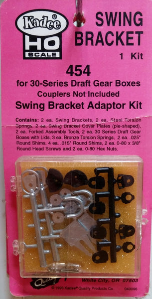 HO Kadee #454 Swing Bracket Adaptor Kit