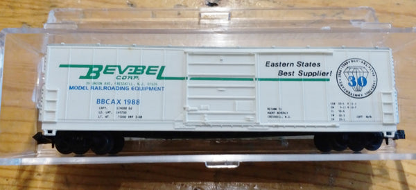Life-Like N Scale BevBel Crop BBAX 1988 Box Car