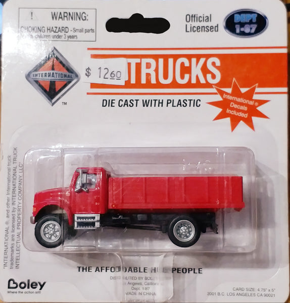 HO Boley International Red Truck #4034