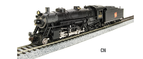 HO Broadway Paragon2 USRA Light Mikado 2-8-2 CN Steam Locomotive with DCC & Sound 3724