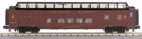 MTH O Rail King Canadian Pacific 60' Streamlined Full-Length Vista Dome Car