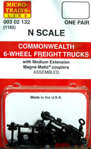 Micro-Trains N Scale Commonwealth 6-Wheel Freight Trucks