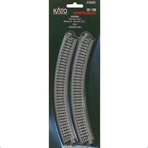 "Kato N Scale R9 3/4"" 45 Degree Curved Track #20-100"