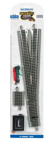 Bachmann HO E-Z Track #6 Right Turnout 44560