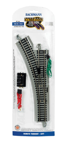 Bachmann HO EZ Track Left Remote Turnout #44561