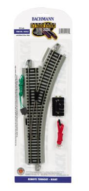 Bachmann HO EZ Track Right Remote Turnout #44562