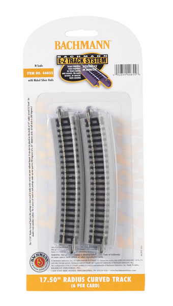 "Bachmann E-Z Track N 17.50"" Radius Curved Track"