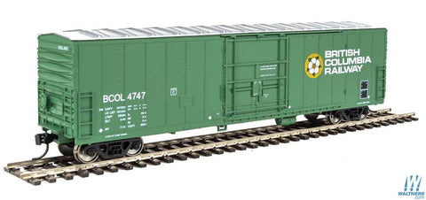 HO WalthersMainline BC Rail 50' Insulated Boxcar #4747