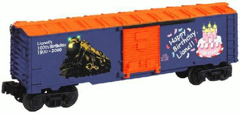 Lionel O Lighted Lionel Birthday Boxcar