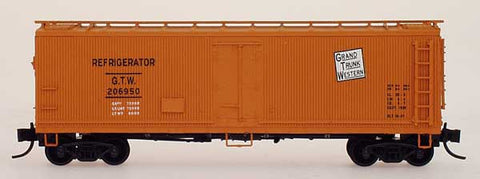 N InterMountain Grand Trunk Western Wood Refrigerator Car #206950