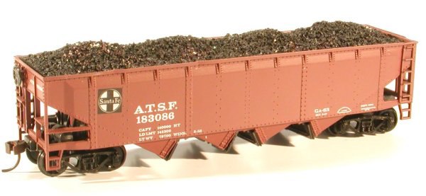 HO Chooch Athearn Quad Hopper Coal Load